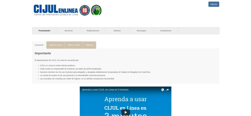 CIJUL | Centro de Información Jurídica en Línea