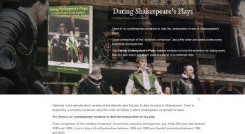 Datiing Shakespeare