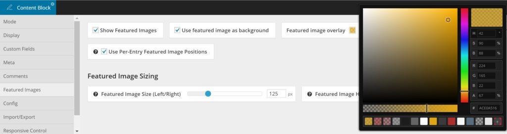 Custom Overlay Color - Visual Editor