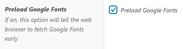 Preload Google Fonts