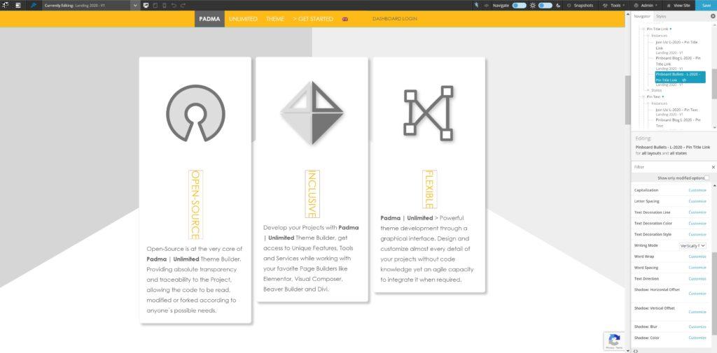 Vertical Text  - Design Mode