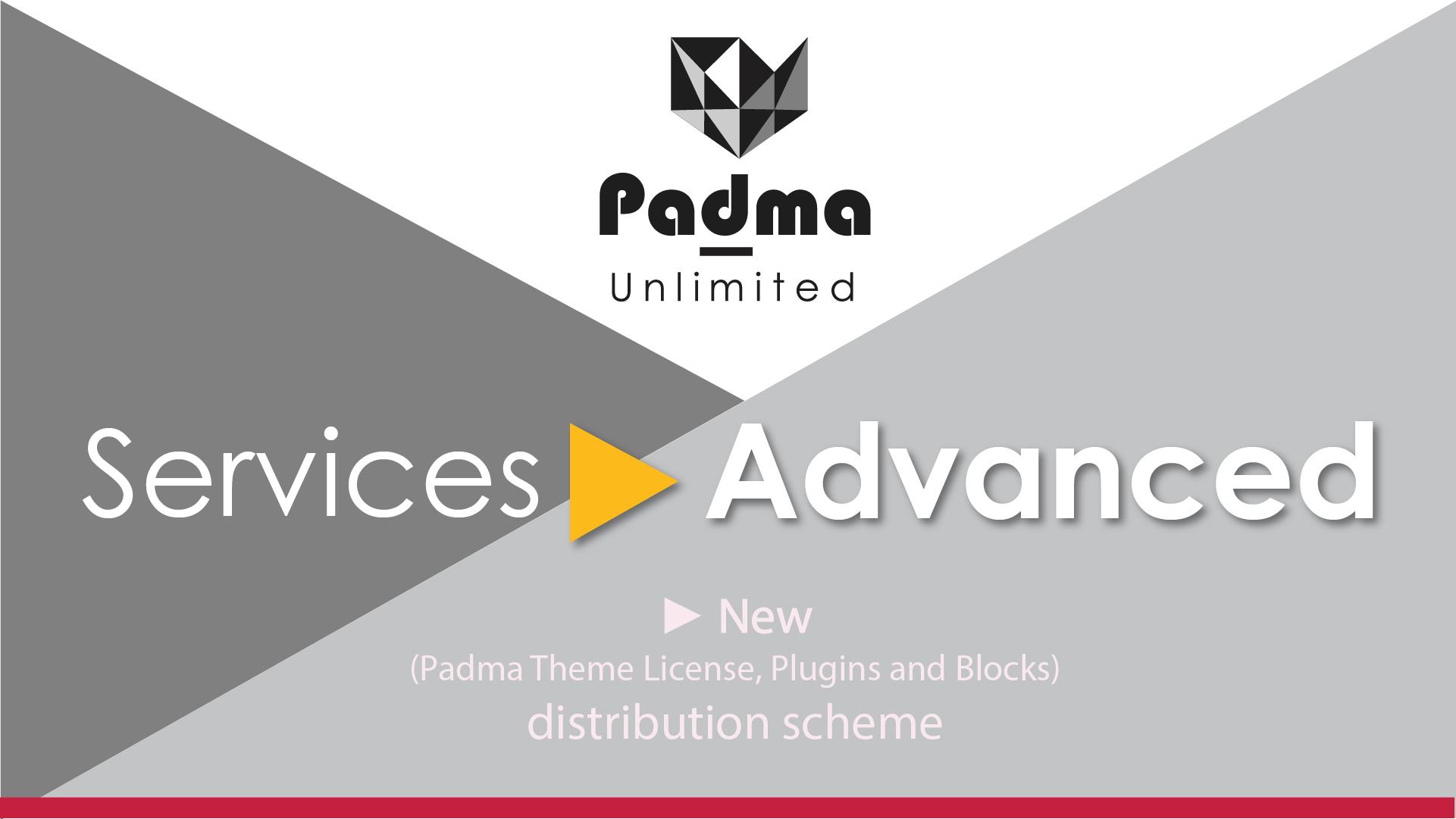 New Padma Theme License, Plugins and Blocks distribution scheme